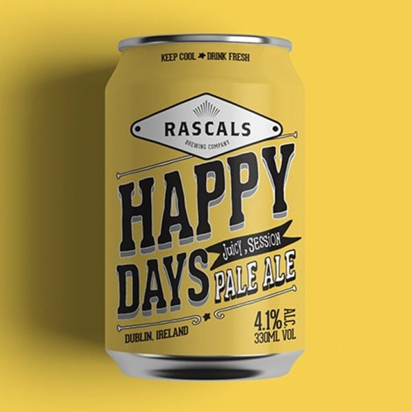 Rascals Craft Brewing happy days pale pale
